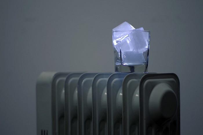 ice on heater